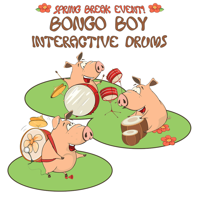 Bongo Boy at the Library in New Palestine