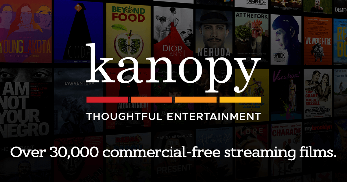 Free streaming films with Kanopy and HCPLibrary