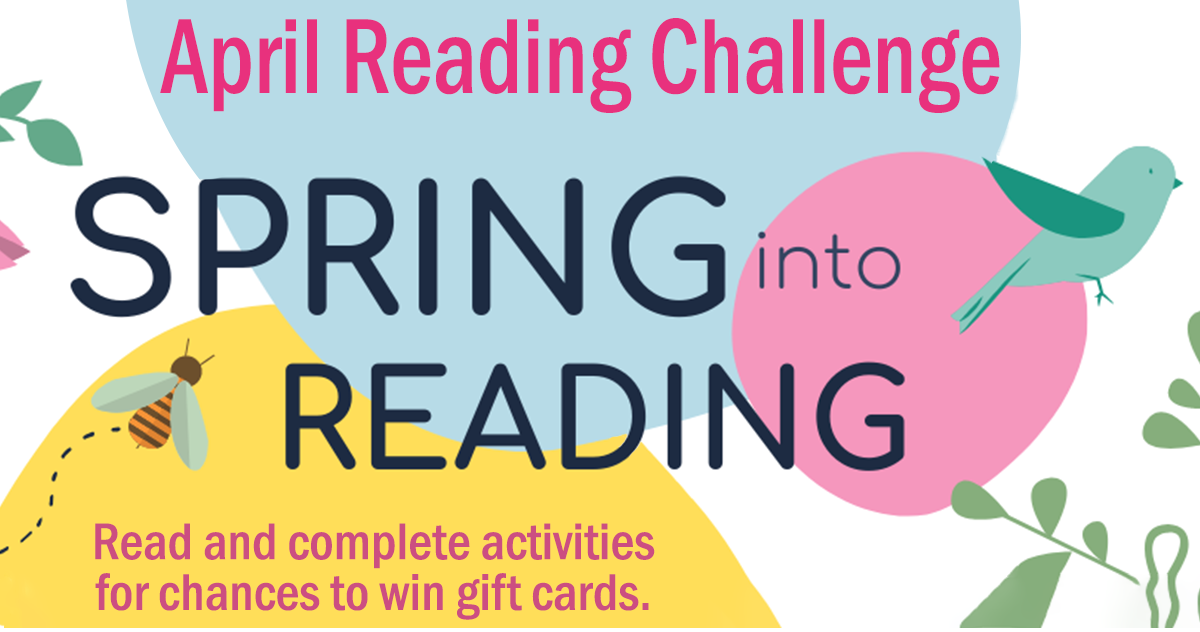 Spring Into Reading and win gift cards!