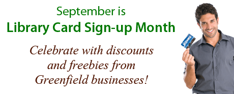 Library Card Sign-up Month Discounts