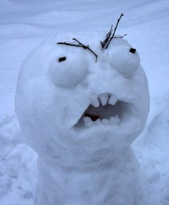 Angry_snowman meme face